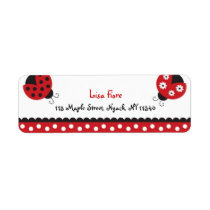 Trendy Red Ladybug Address Labels