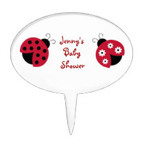 Trendy Red Ladybug Cake Topper Cupcake Topper