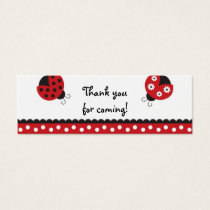 Trendy Red Ladybug Favor Gift Tags