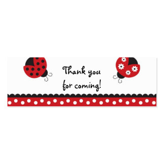 Trendy Red Ladybug Favor Gift Tags Business Cards