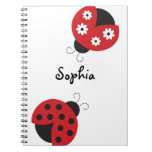 Trendy Red Ladybug Notebook Journal