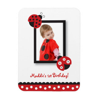 Trendy Red Ladybug Photo Magnet Party Favor