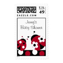Trendy Red Ladybug Polka Dot Postage Stamps