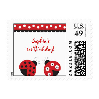 Trendy Red Ladybug Postage Stamps