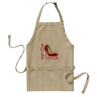 Trendy Red Sole Sister Stiletto Heels Apron