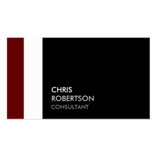 Trendy Red White Black Attractive Business Card