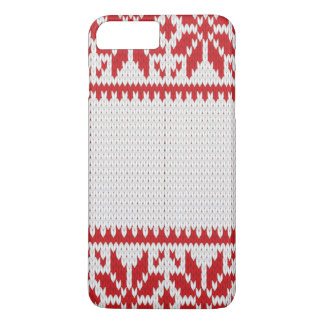 Trendy Red White Ugly Christmas Sweater Pattern iPhone 8 Plus/7 Plus Case