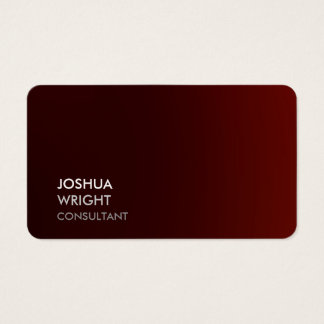 Trendy Reddish Brown Attractive Plain Chic Business Card