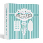 Trendy Retro Recipes Personalized Binder