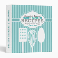 Trendy Retro Recipes Personalized