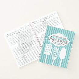 Trendy Retro Recipes Personalized Notebook