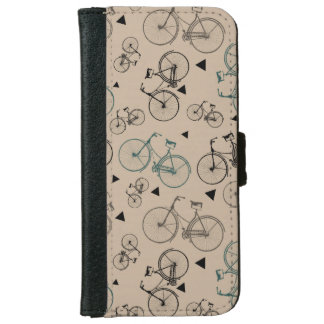 Trendy Retro Style Bicycles Pattern Wallet Phone Case For iPhone 6/6s