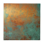 """Trendy Rich Copper Patina Metallic Ceramic Tile<br><div class=""""desc"""">A trendy modern copper patina ceramic tile. This will bring a warmth and richness to your home decor. Copyright Personalized Home Decor,  all rights reserved.</div>"""