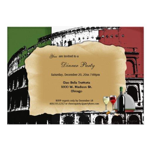 Trendy Roman Coliseum Dinner Party Invite