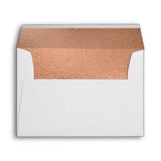 Trendy Rose Gold Foil-Effect Lined Envelope