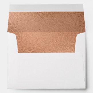 Trendy Rose Gold Foil-Effect Lined Envelope