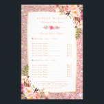 """Trendy Rose Gold Glitter Floral Beauty Salon Menu<br><div class=""""desc"""">================= ABOUT THIS DESIGN ================= Trendy Rose Gold Glitter Floral Beauty Salon Menu Flyer. (1) For further customization, please click the &quot;Customize it&quot; button and use our design tool to modify this template. All text style, colors, sizes can be modified to fit your needs. (2) If you need help or...</div>"""