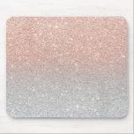 "Trendy rose gold glitter ombre silver glitter mouse pad<br><div class=""desc"">Modern trendy rose gold glitter ombre silver glitter</div>"