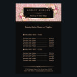 """Trendy Rose Gold Glitter Sparkling Girly Floral Flyer<br><div class=""""desc"""">Trendy Rose Gold Glitter Sparkling Girly Floral Flyer.  (1) For further customization,  please click the &quot;customize further&quot; link and use our design tool to modify this template.  (2) If you need help or matching items,  please contact me.</div>"""