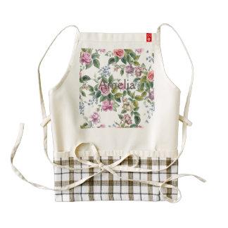 trendy,roses,pattern,shabby chic,elegant,girly,bea zazzle HEART apron
