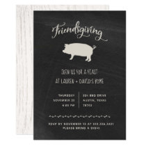 Trendy Rustic Friendsgiving | Thanksgiving Dinner Invitation