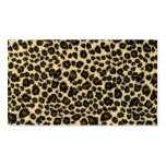 Trendy Safari Leopard Print Double-Sided Standard Business Cards (Pack Of 100)