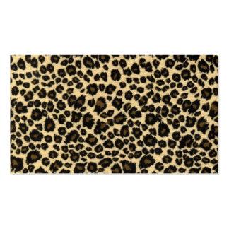Trendy Safari Leopard Print Business Cards
