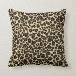 Trendy Safari Leopard Print Throw Pillow
