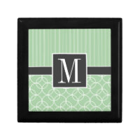 Trendy Sage Green Circles Gift Box