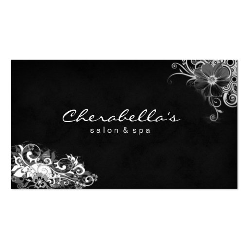 Trendy Salon Spa Floral Business Card White