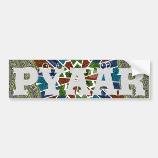 Trendy Sari design Bumper Sticker