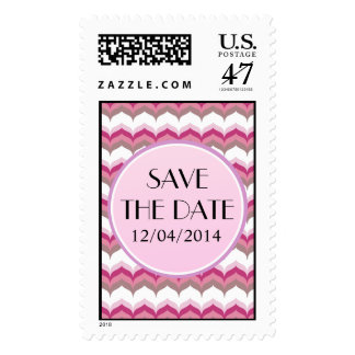 Trendy Save the Date Postage Stamp