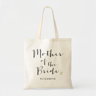 "Trendy Script ""Mother of the Bride"" Tote Bag"