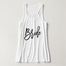 Trendy Script Typography Bride Tank Top