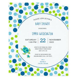 Sea Turtle Baby Shower Invitations Zazzle