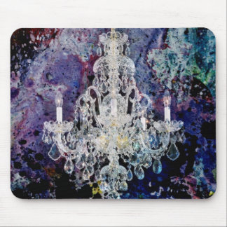 Trendy Shabby Chic Chandelier Mouse Pad