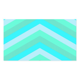 Trendy Shades Of Turquoise Teal Chevron Pattern Business Card Templates