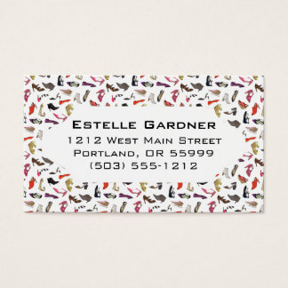 Trendy shoes custom business card