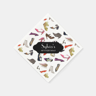 Trendy shoes paper napkins