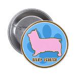 Trendy Silky Terrier Pinback Button