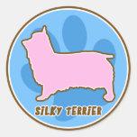 Trendy Silky Terrier Sticker