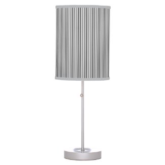 Trendy Silver Gray Vertical Stripes Desk Lamp