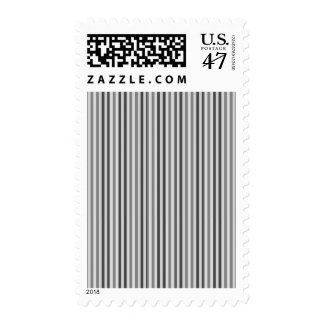 Trendy Silver Grey Horizontal Stripes Postage