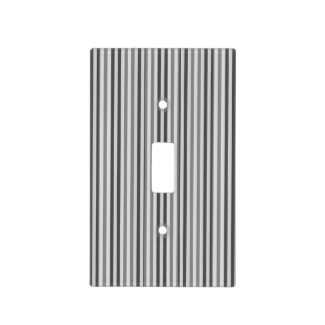 Trendy Silver Grey Vertical Stripes