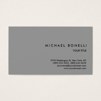 Trendy Simple Grey Professional Business Card