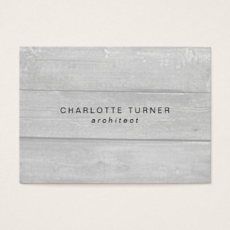 Trendy Simple Minimalist Gray Wood Professional Business Card