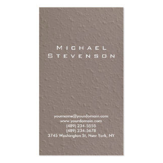 Trendy Simple Plain Beige Business Card