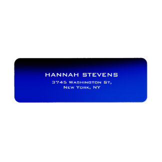 Trendy Simple Plain Blue Black Elegant Modern Label