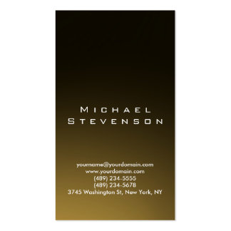 Trendy Simple Plain Gold Look Business Card