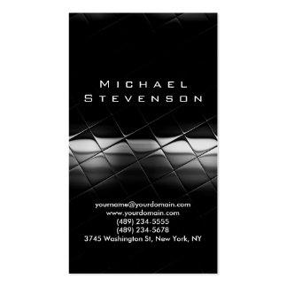 Trendy Simple Plain Grey Black Business Card
